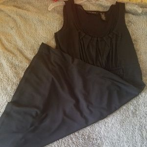 Vintage Midi length black dress
